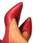 rote Frauenschuhe