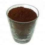 Kaffeepulver in einem Glas